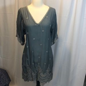 Johnny Was Embroidered Tunic/Dress M EUC